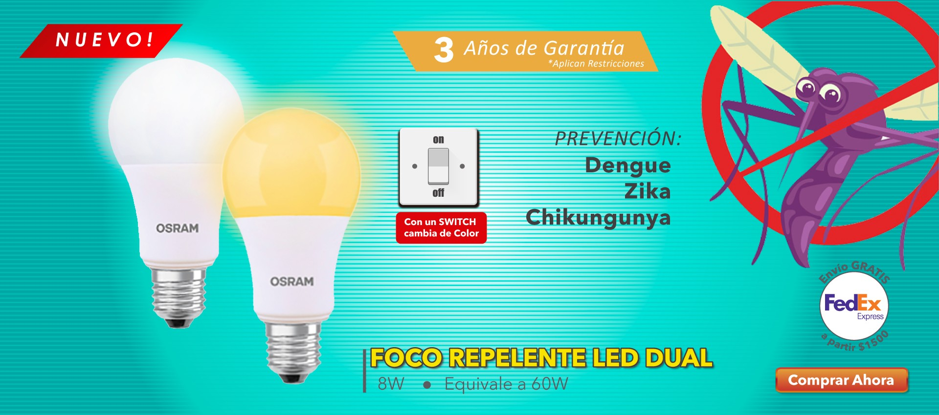 Foco Repelente LED Dual